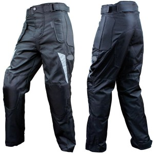 Casual Look Black Motorbike Leather Trousers