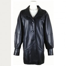 Women Stylish Black Leather Blazer