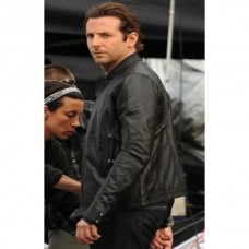 Bradely Cooper Limitless Black Leather Jacket
