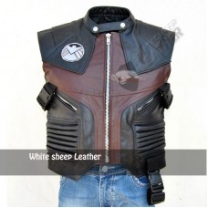 Avengers Jeremy Renner Hawkeye Leather Vest