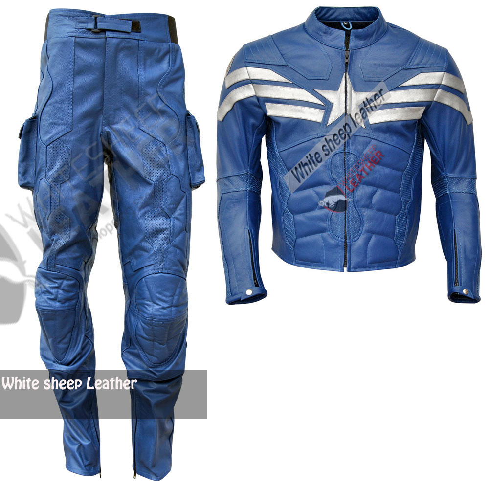 Captain America Blue Muscle Jumpsuit Costume (Free Shipping )