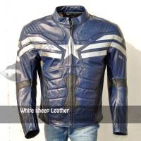 captain america The Winter Soldier Leather Costume Replica Jacket