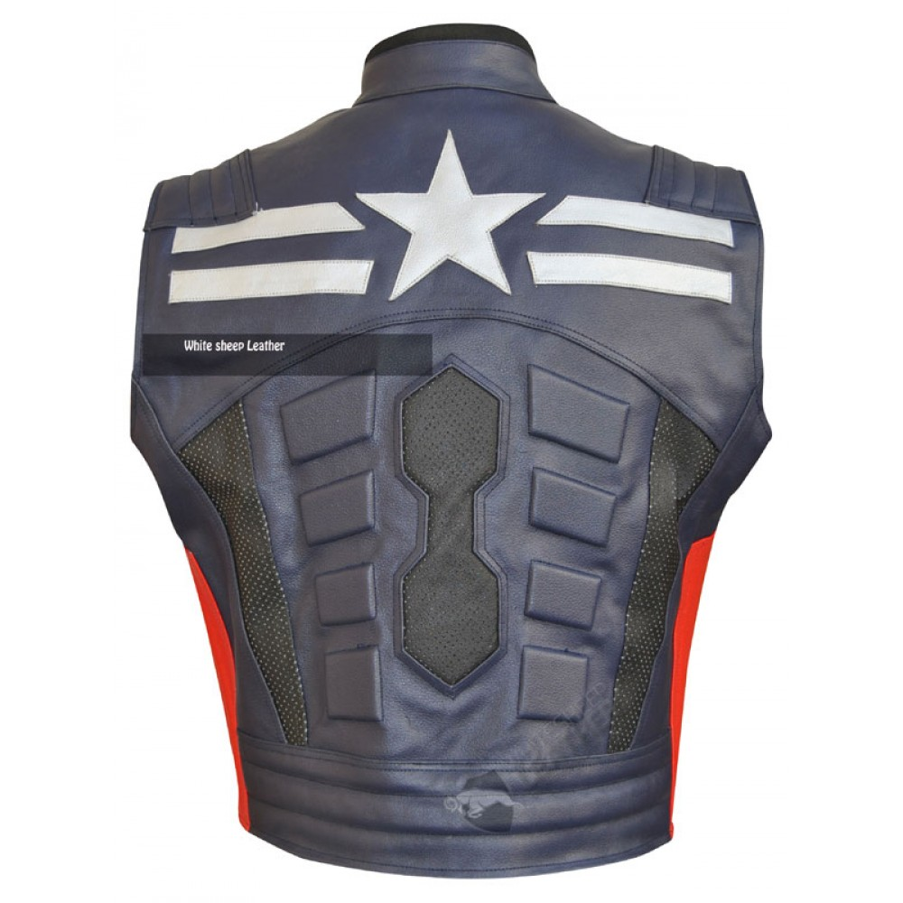 Captain America Leather Replica Vest