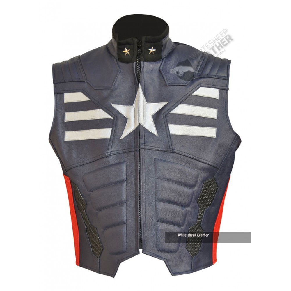 Captain vest 1000x1000g captain america leather replica vest thecheapjerseys Images