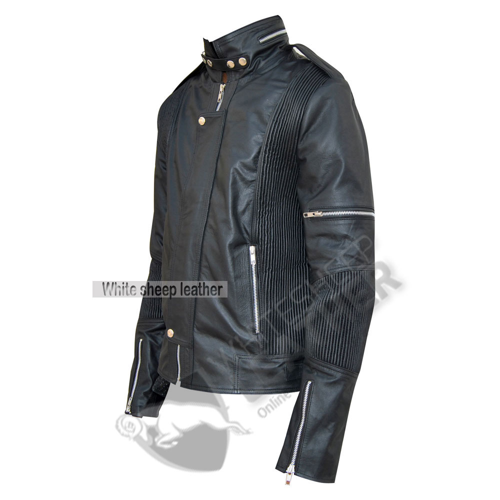 Men's Designer Daft Punk Studded Leather Jacket