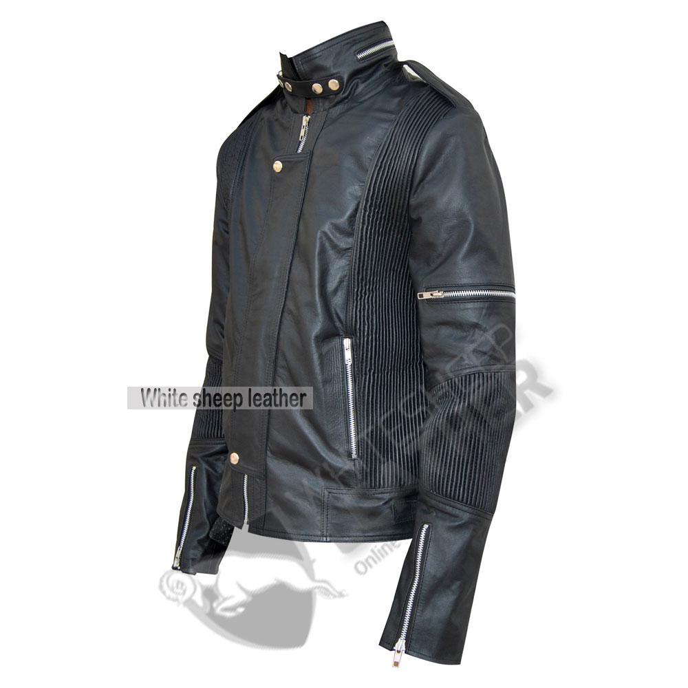 89f85e3a2 Men's Designer Daft Punk Studded Leather Jacket