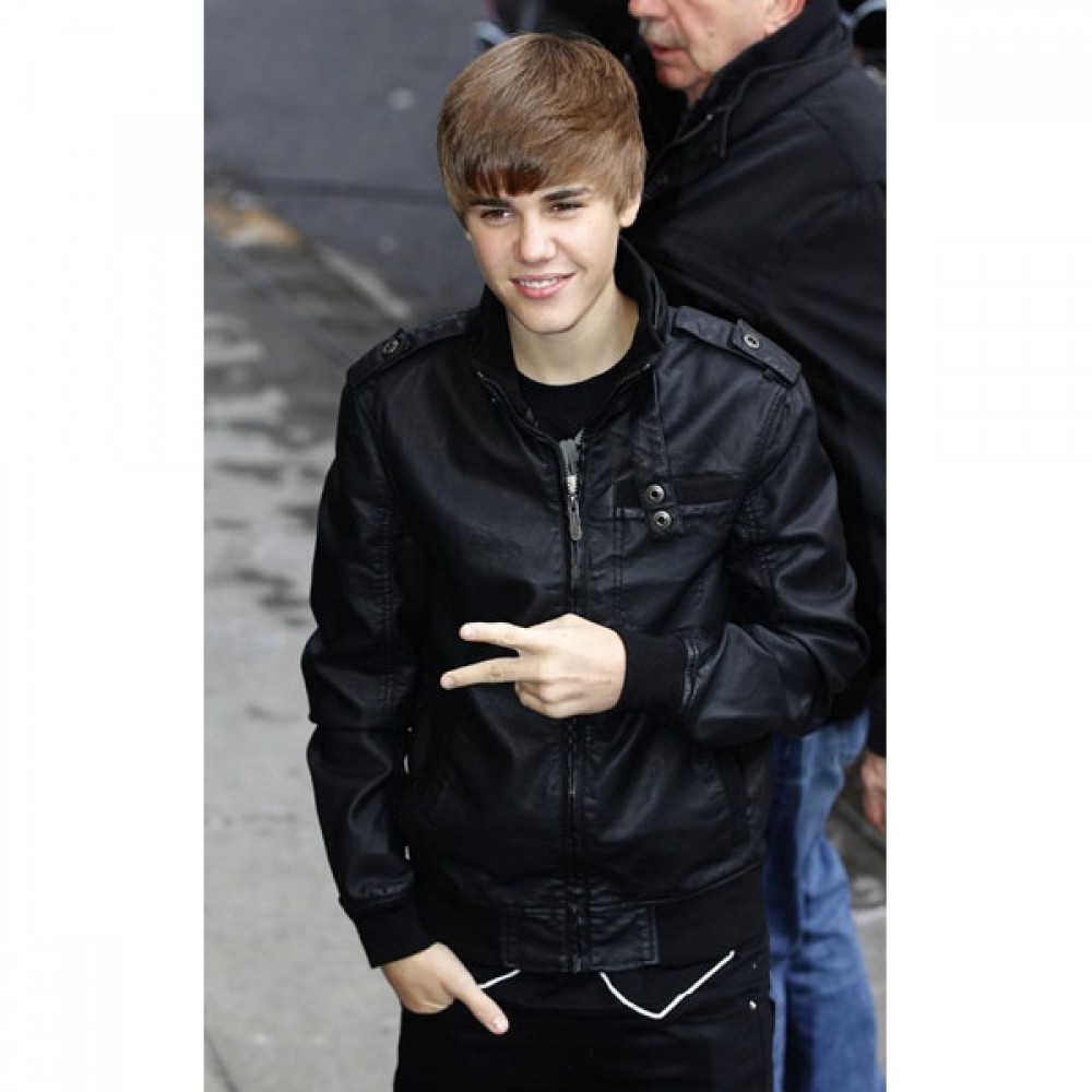 Justin Bieber Casual Bomber Leather Jacket