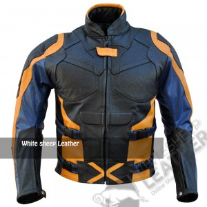 X-Men Orange & Black Motorcycle Leather Jacket