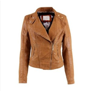 Casual Look Brando Style Brown Leather Jacket