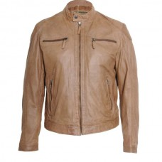 Men's Caramel Classic Leather Jacket