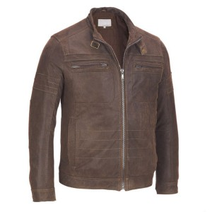 Men's Classic ZIP-UP Brown Leather Jacket