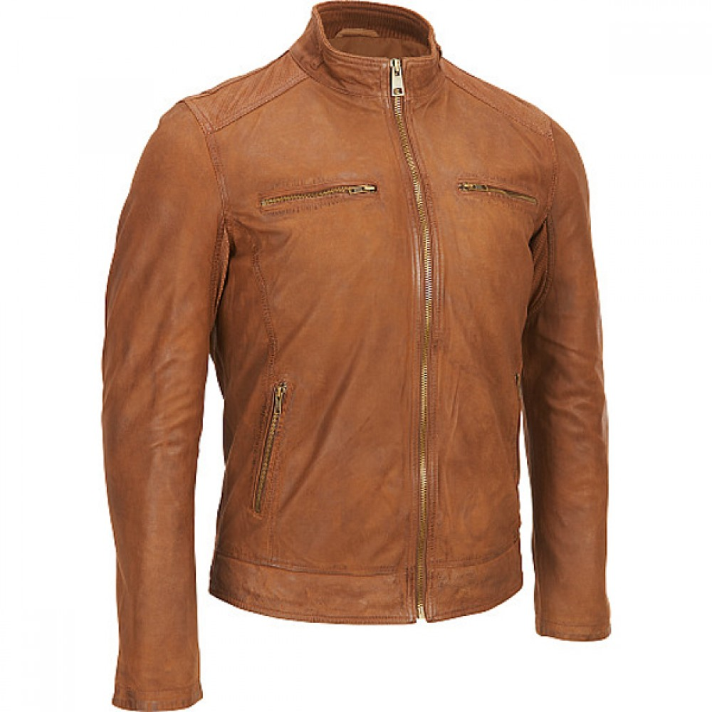 Classic Brown Casual Leather Jacket