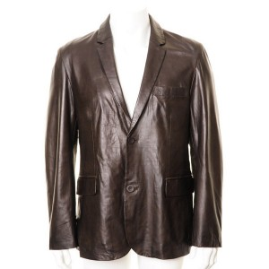 Men's Brown Stylish Leather Blazer