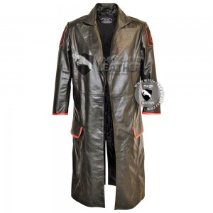 Red Skull Real Leather long coat