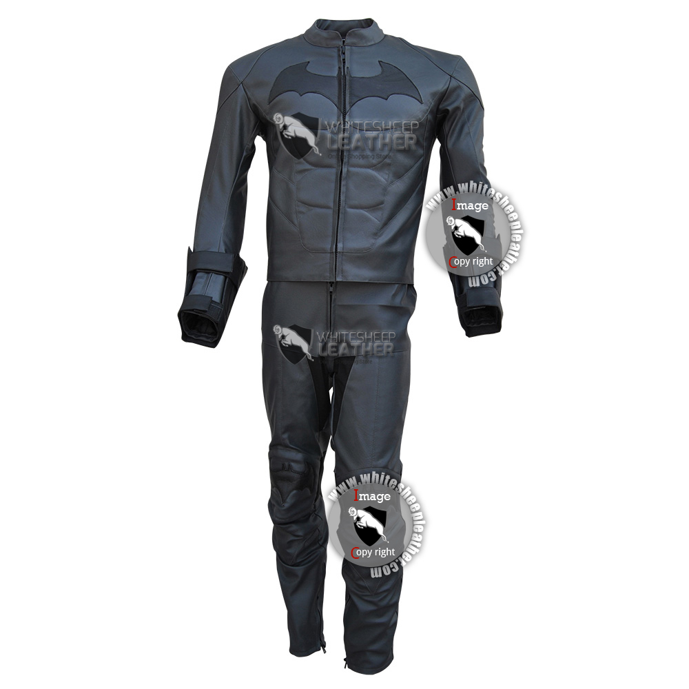 batman arkham knight costume leather suit free shipping