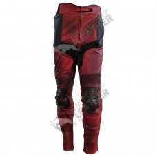 Ryan Reynolds DeadPool movie Motorcycle Leather pants