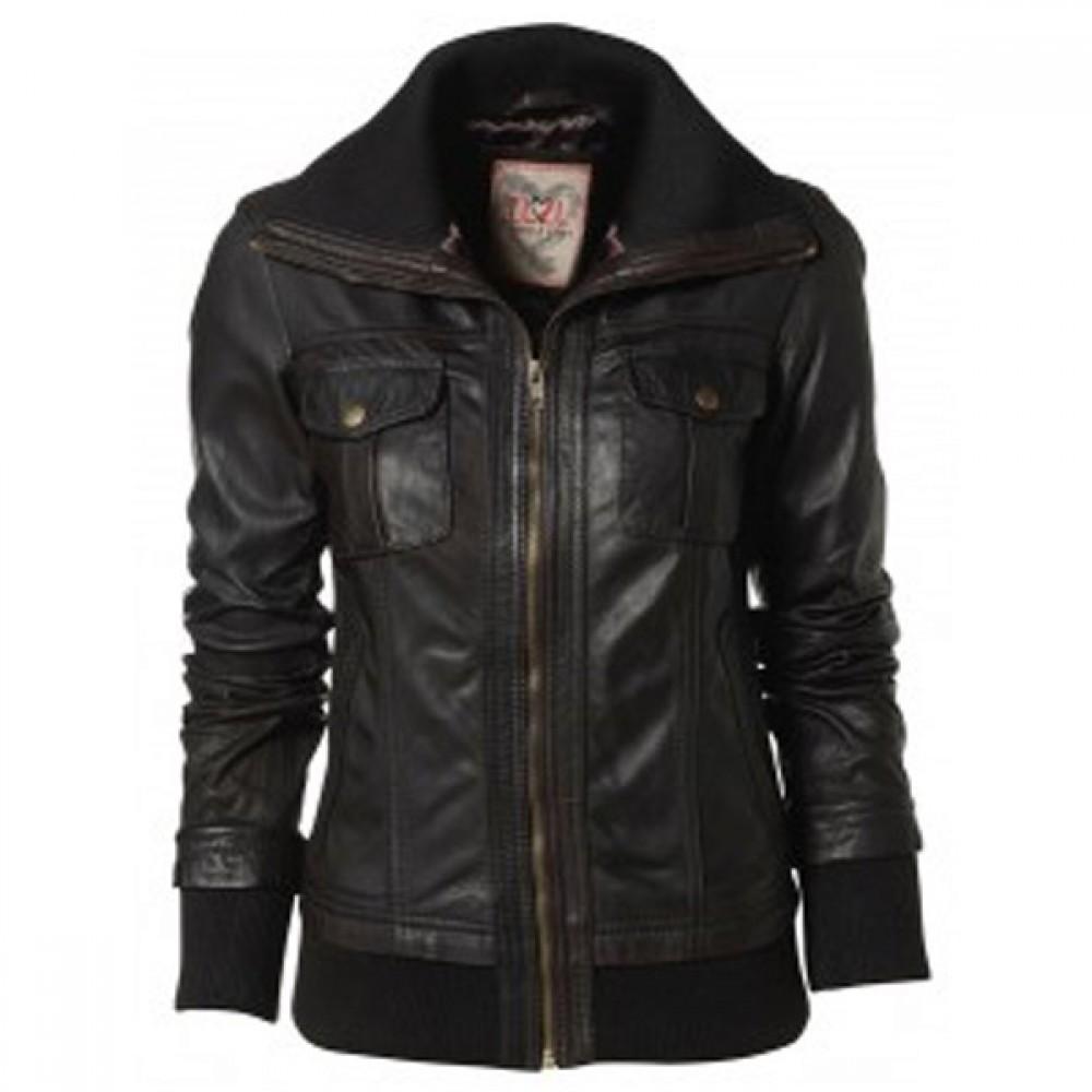 6a08055de Designer Ladies Bomber Black Leather Jackets