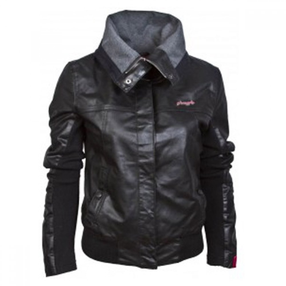 Ladies Bomber Black Leather Jackets