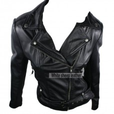 Classic Black Slim Fit Leather Jacket