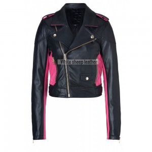 Women's Classic Zip Up Leather Jacket