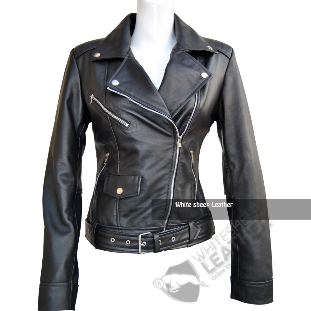 Leather jacket ladies