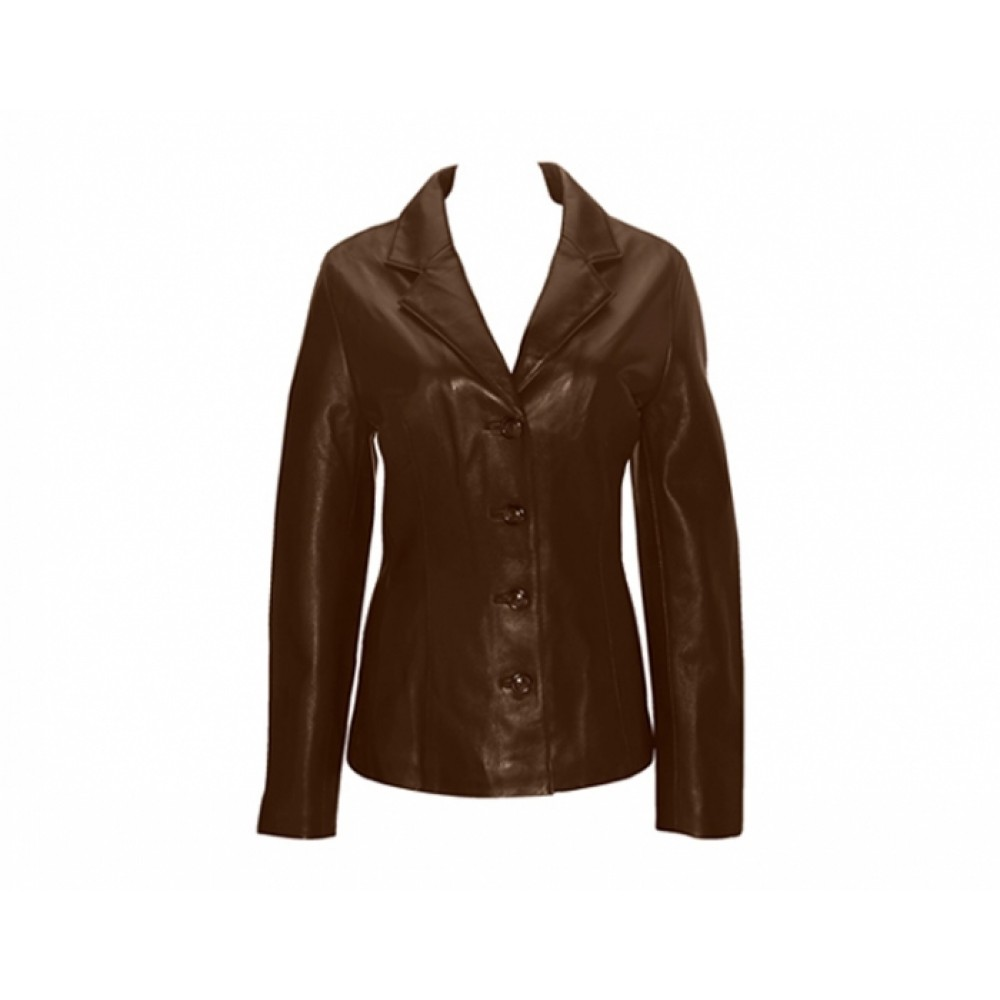 Women Designer Brown Leather Jacket