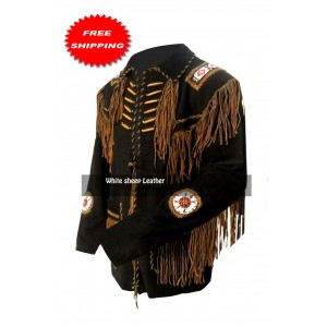 Vintage Fringed South Western Leather/suede Jacket