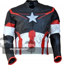Avengers 2 Captain America Age of Ultron Leather Jacket