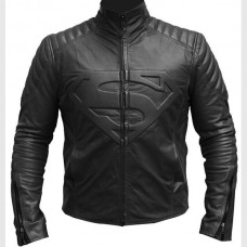 Superman Smallville Black Leather Jacket