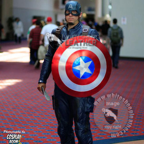 Captain America Civil war real leather suit
